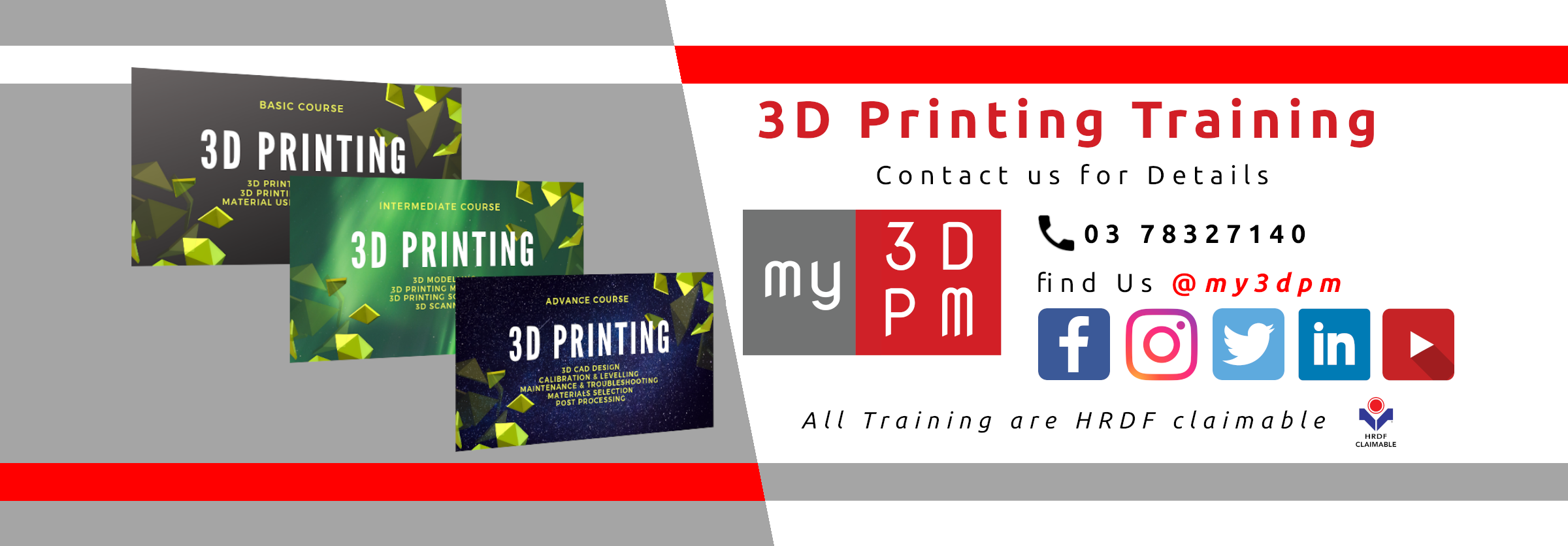 my3DPM offer training for 3D printing and 3D printers